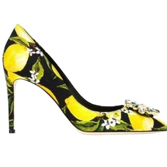 4cd6831354 Dolce & Gabbana Shoes   New Dolce Gabbana Lemon Crystal Pumps 375 ...